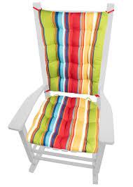 100 Final Sale Rocking Chair Cushions Westport Cabana Stripe Red Porch Rocker Latex Foam Fill