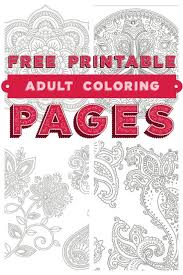 Need A Little Relaxation Time For Yourself Grab Five Free Printable Adult Coloring Pages From