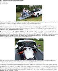 100 Truck Bed Ramp DIY MotorcycletoPickup Loading PDF Free Download