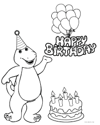 Barney Birthday Coloring Pages Card For Grandma Printable Happy Dad Full Size