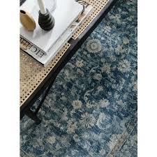 vintage teppich blau i 160x235 cm i wohnzimmer i esszimmer