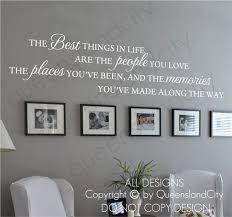 The Best Things In Life Love Memories Wall Quote Home Art Decal Vinyl Sticker