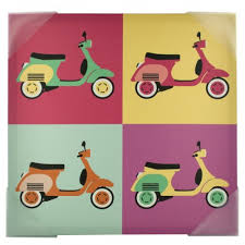 Vintage SCOOTERs Pop Art Canvas Wall