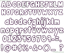 Bubble Letter Fonts