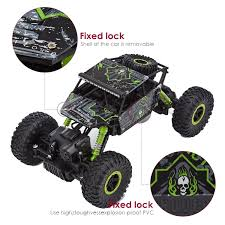 Buy Webby Remote Controlled Rock Crawler Monster Truck, Green Online ...