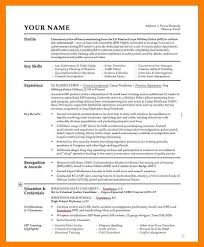 Police Resume Examplespolice Officer Skills Samples Marine Corps Military Cv Template