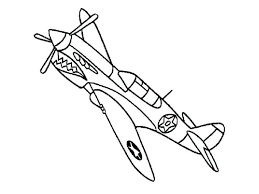 Airplane Coloring Pages Simple Plane Sheets Free Cartoon Medium Size