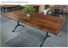 Iron Dining Table Legs Black Cast Iron Wishbone Leg A Farm Diy