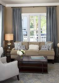 Traditional Living Room Blue Taupe
