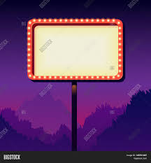 50s Retro Bathroom Decor by Vintage Signboard With Lights Roadside Sign Road From The 50s