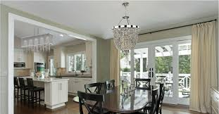 Traditional Dining Room Basket Shaded Crystal Chandelier