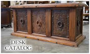 Stunning Rustic Office Desk Furniture Spanish Style Demejico