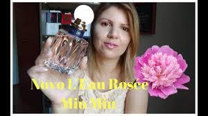 100 Rosee Novo Perfume Floral Delicado Leau Rose Miu Miu YouTube