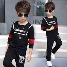 5 13Y New 2017 Spring Boys Fashion Clothing Sets 2pcs Baby Boy T Shirt