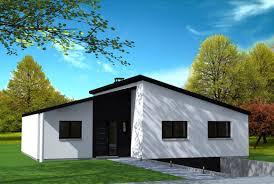 bac a avec toit maison moderne avec toiture asymétrique yohann baheux maître d