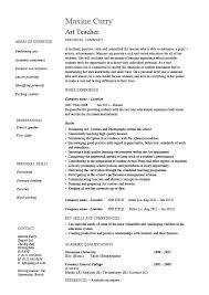 Resume Samples Teacher Art Example Template Sample Teaching Design Job Description School