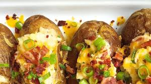 Best Loaded Baked Potatoes With Bacon And Cheddar Recipe How To Make