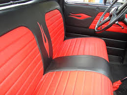 Black & Red Leather Upholstery For A 53 Chevy PU By Winning ... Bench Chevy Truck Seat Soappculture Com Fantastic Photos Upholstery Outdoor Fniture Buffalo Hide Car Summer Leather Cushion Reupholstering The Youtube How To Recover Refinish Repair A Ford Mustang Amazoncom A25 Toyota Pickup Front Solid Charcoal 1956 Reupholstered Part 1 Kit Replacement For And Seats Carpet Headliners Door Panels To Clean Suede It Still Runs Your Ultimate Older Auto Interior Customizing Shops Best Accsories Home 2017 01966 Chevroletgmc Standard Cab U104