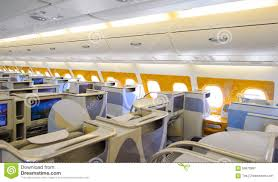 Emirates Airbus A380 Business Class Interior Editorial graphy