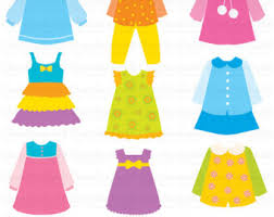 Yellow Dress Clipart Kid 7
