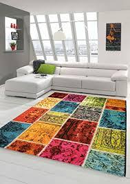 tapijten vintage teppich patchwork bunt gelb pink wohnzimmer