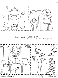 Story Coloring Pages 10 Of Esther Page