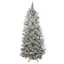 Pre Lit Flocked Artificial Christmas Trees by 7 5 Foot Christmas Trees For Less Overstock Com