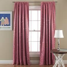 Light Pink Ruffle Blackout Curtains by Star Room Darkening Window Curtain Set Lush Decor Www