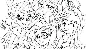 My Little Pony Equestria Coloring Pages Of Girls Sunset Shimmer