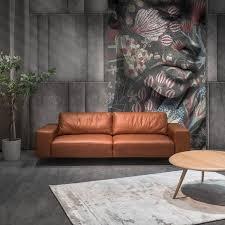 ars manufacti sofa volx cognac anilinleder industrial