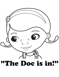Doc McStuffins The Is In Coloring Page