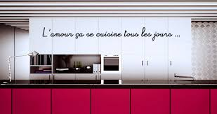 stickers cuisine citation stickers muraux citation amour et cuisine sticker décoration