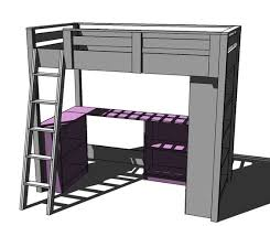 Bunk Bed Desk Combo Plans by Ana White Build A Clubhouse Bed Free And Easy Diy Project And