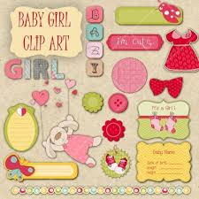 17 Png Baby Girl Clipart Stickers By Digitalvintagedreams On Etsy In Throughout Scrapbook Designs Printable