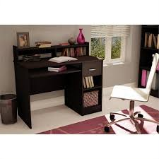 Cymax Desk With Hutch by South Shore Axess Small Wood Computer Desk With Hutch In Chocolate