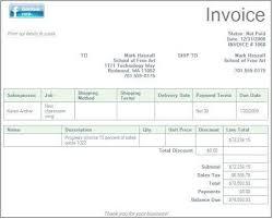 Microsoft fice Invoice
