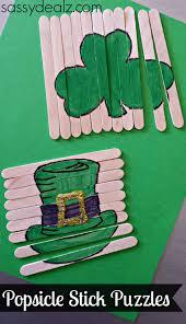 Popsicle St Patricks Crafts