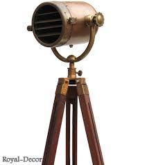 Photographers Tripod Floor Lamp antique nautical searchlight marine floor lamp studio spotlight
