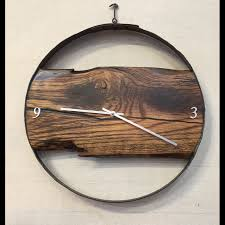 Barrel Ring/Barn Wood Clock - WalkingWood Creations Rustic Wall Clock Oversized Oval Roman Numeral 40cm Pallet Wood Diy Youtube Pottery Barn Shelves 16 Image Avery Street Design Co Farmhouse Clocks And Fniture Best 25 Large Wooden Clock Ideas On Pinterest Old Wood Projects Reclaimed Home Do Not Use Lighting City Reclaimed Barn Copper Pipe Round Barnwood Timbr Moss Clock16inch Diameter Products