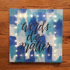 Thats Always Stuck With You And A Blank Wall In Your Room Crying For Some Attention Should Make This Simple DIY Light Up Word Art Canvas