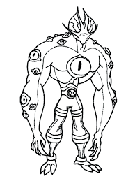 Ben 10 Coloring Games Free Download Birthday Printable Ultimate Alien Pages Force Full Size