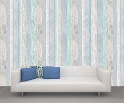 Coloroll Beach Hut Blue Wallpaper M1062
