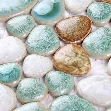 porcelain tile snowflake style mosaic design