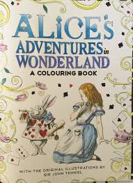 Coloring Colouring Alice In Wonderland Macmillan Stress Relief Art Therapy Mindfulness Depression Adult Pens Pencils Fineliners Title Page Book