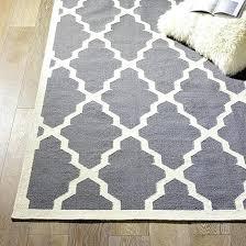 Geometric Carpet Black And White Rug Wool Plaid