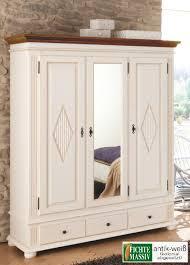 kleiderschrank schlafzimmer spiegel dielenschrank zugspitz fichte massiv weiß landhaus 3trg