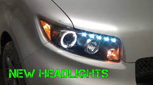 2008 scion xb build 6 headlight installation