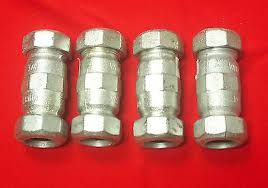 new dresser 2 galvanized pipe repair compression coupling 5 1 2
