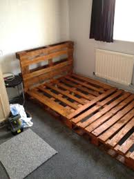 Pallet Bed Frame With Drawers Plans Upholstered Storage Canada