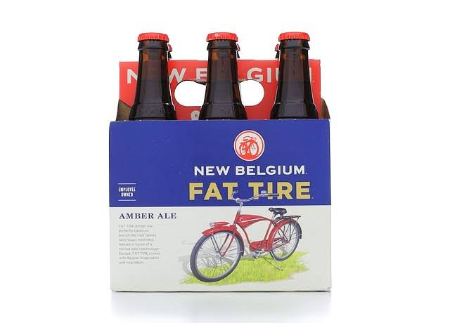 New Belgium Brewing Fat Tire Belgian Style Ale - 12oz, 6 Pack